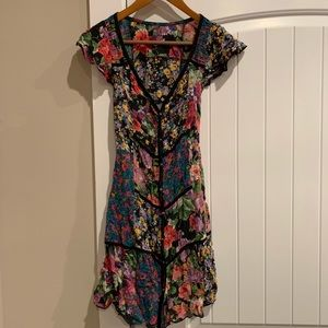 Floral Free People button down dress